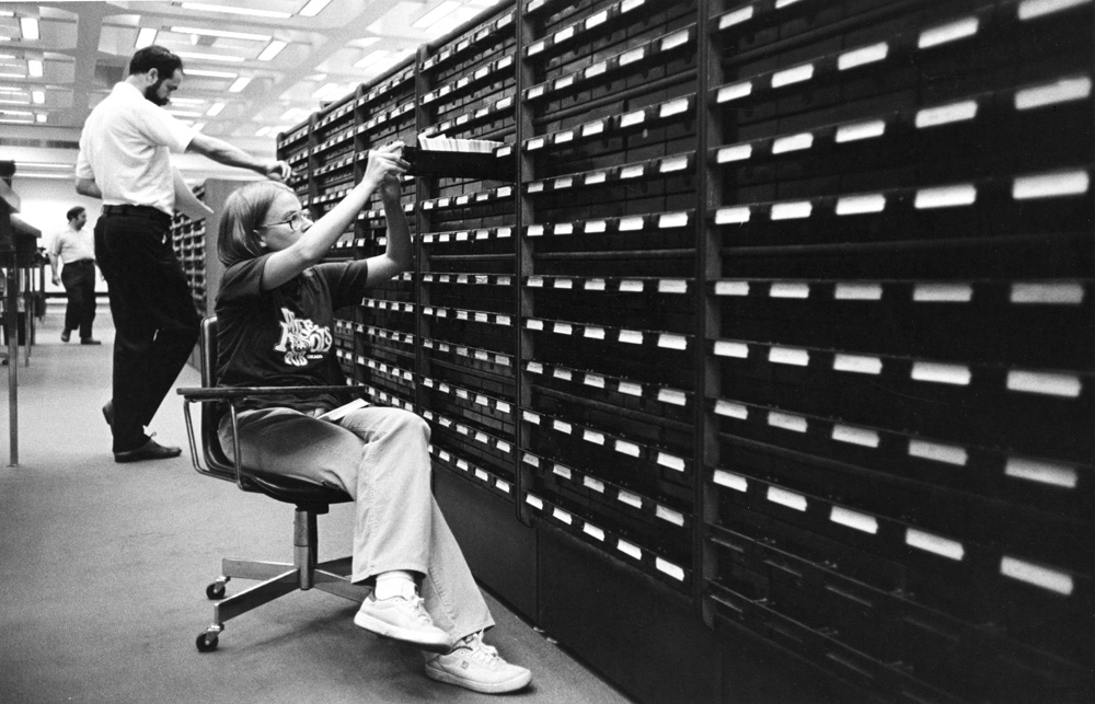 Card Catalog on JRL first floor