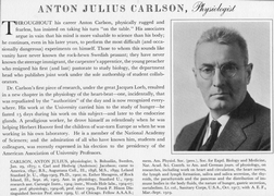 Carlson, Anton J.