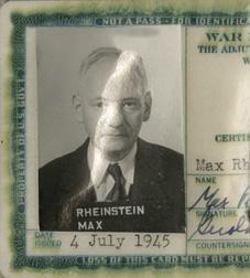 Rheinstein, Max